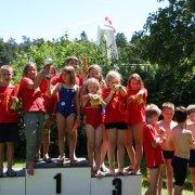 Die Sieger der 4x50m Staffeln